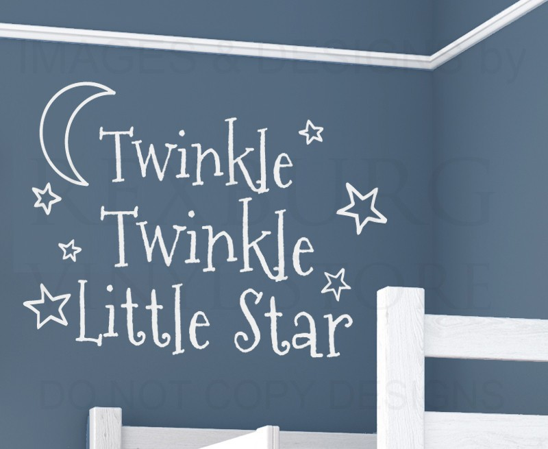 Aliexpress.com : Buy Wall Decal Art Vinyl Sticker Quote Twinkle Twinkle  Little Star Babyu0027s Room From Reliable Baby Room Suppliers On BUCKOO Store Part 43