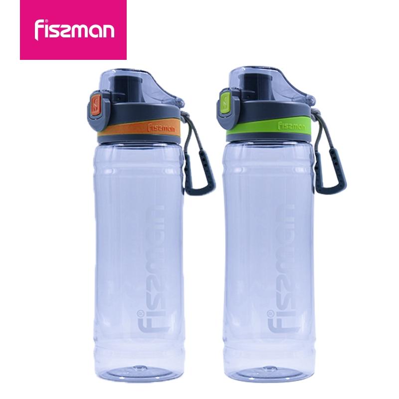 FISSMAN Sports Water Bottle High Quality Plastic Leak Proof Drinkware Tour Hiking Portable 780ml Bottles 6862
