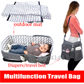 Multifunction Portable Folding Crib Mummy Bag 4 In 1 Baby Care Bag Travel Bed Infant Diaper Changing Station Outdoor Camping Mat
