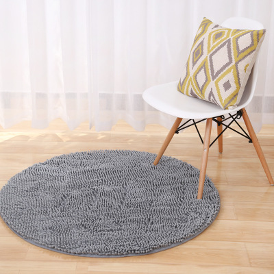Big Round Microfiber Bath Mats Chenille Absorbent Bath Rugs Bathroom Floor Mats Computer Chair Yoga Pat Christmas Decoration in Mat from Home Garden