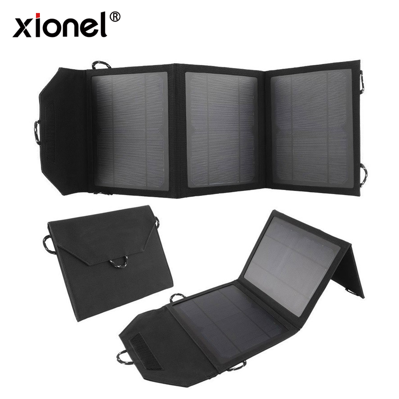 Xionel Solar Panel Charger with iSolar Technology for Cell Phone, iphone 6 plus 5s 5, ipad Air Mini, Samsung Galaxy Note 4 3 2