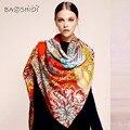 [Baoshidi] 100% lã lenço do inverno, lenços de marca de luxo da moda, lenços elegantes mulheres, infinito praça da senhora xale, hijab quente mulher