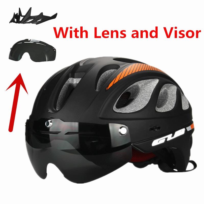 цена на 2016 GUB MTB Road Cycling Helmet Men/Women 20 Air Vents Goggles Bicycle Bike Helmet With Lens visor Casco Ciclismo