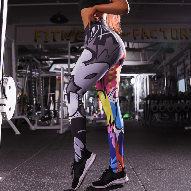 Holographic Color 3D Graphic Full Printed Workout Yoga Pants 5
