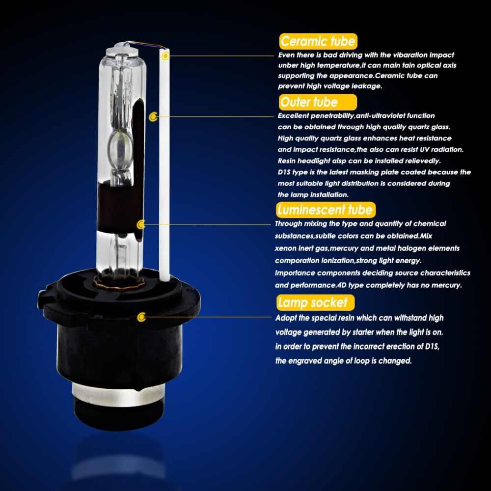 JGAUT 2 шт. 3000 K-12000 K D1S D1R D2S D2R D3S D4S D4R лампочка фары HID комплект фары Blub 12V Противотуманные фары DXL 35W 55W 12V