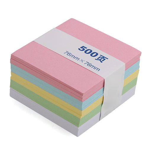 SOSW-Memo Note Pad Paper Notepad Gift 500 Pages 5 Colors Stationery лоферы just couture just couture ju663awqqy55
