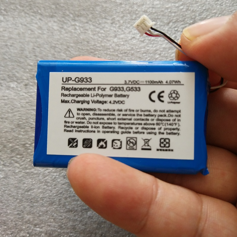 Batería De 3,7 V Para Logitech G933 Artemis Espectro G533 Auricular Li-polímero Recargable Acumulador Reemplazo 533-000132