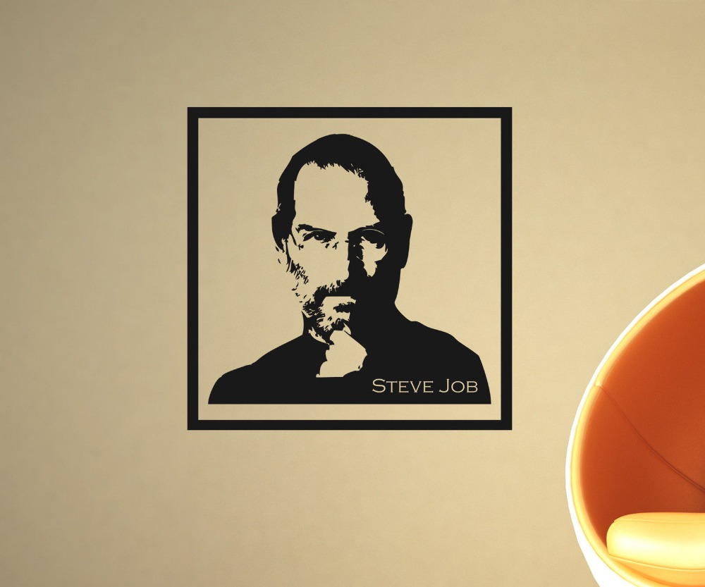 Ins Hot Sale Vinyl Wall Sticker Steve Jobs Wall Decal Portrait ...