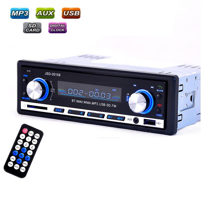 Prix pour Voiture Radio usb Bluetooth V2.0 Autoradio JSD 20158 Voiture Audio Stéréo Au tableau de bord FM Récepteur Entrée Aux ReceiverUSB MP3 MMC WMAautoradio