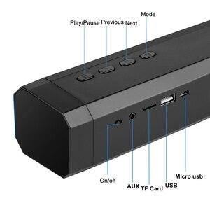Image 5 - 10 w tv 사운드 바 블루투스 스피커 fm 라디오 홈 시어터 시스템 휴대용 무선 서브 우퍼베이스 mp3 음악 boombox