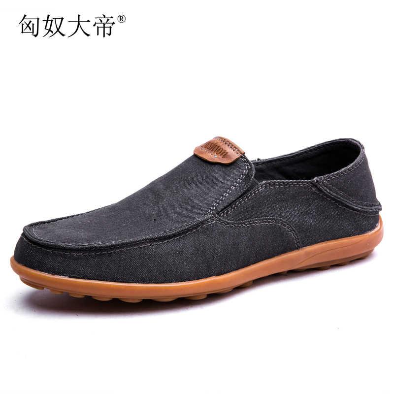 Новинка низкая цена мужские дышащие туфли высокого качества повседневные джинсовые кеды повседневная парусиновая обувь слипоны мужские модные лоферы на плоской подошве