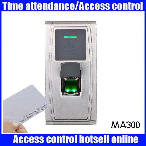 ZK MA300 лицо синхронизации машины Металл Waterpoof открытый отпечатков пальцев двери Автономный биометрический контроллер доступа посещаемости