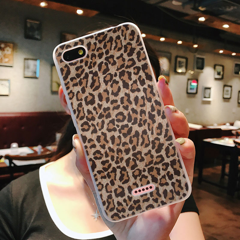 Silicone Phone Case 2018 Leopard print for Xiaomi Redmi S2 Note 4 4X 5 5Pro 5A Plus 6 6A 7 Pro Cover in Fitted Cases from Cellphones Telecommunications