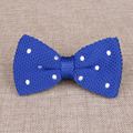 Fashion Solid & Dot Bow Tie Knitted Wedding Geometric Noeud Papillon Men & Women Polyester Silk Cravat Bowties Female Neckwear