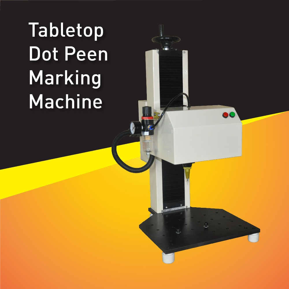 Pneumatic Dot Peen Nameplate Marking Machine,Printing Machinery and Equipment,Metal Engraving Machine,Marking Area 120mm x 80mm mp marking machine for nameplate metal machine pin marker dot peen engraving machine for metal parts