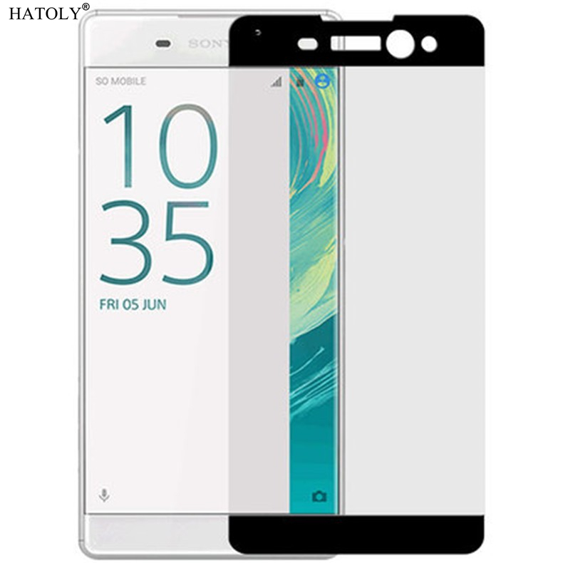 2PCS Tempered Glass For Sony Xperia XA Ultra Screen Protector for Sony C6 Full Cover for Sony Xperia XA Ultra C6 Film HATOLY