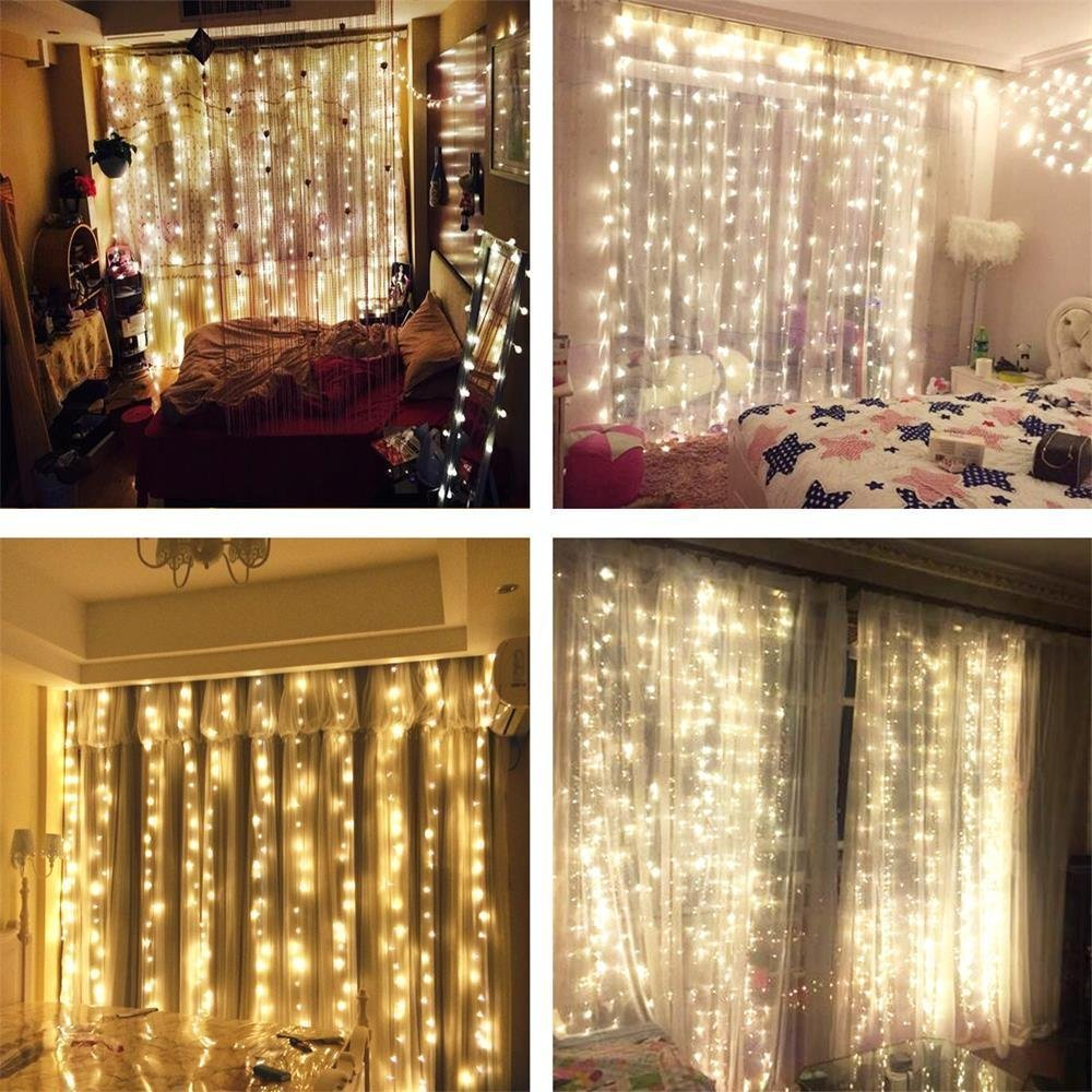 icicle led curtain home wedding itm party backdrops wall lights holiday light excelvan window garden christmas valentine string fairy decor
