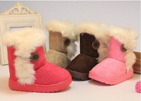 2016 New Solid Baby Booties Baby Winter Shoes Moccasins Bebek Ayakkabi Botte D Hiver Pour Bebe