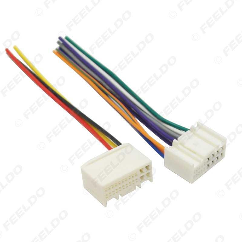 FEELDO 1 ペアカーラジオオーディオ電源ワイヤーハーネスアダプター起亜 K2/K3/K5/Sportage R 現代 IX35/ツーソン ISO CD 電源ケーブル