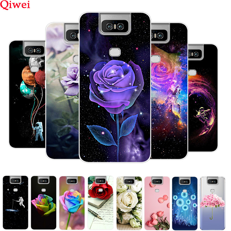 For Coque <font><b>Asus</b></font> <font><b>Zenfone</b></font> <font><b>6</b></font> <font><b>2019</b></font> <font><b>Case</b></font> ZS630KL Flower Patterned Soft TPU Silicone Back Cover For <font><b>Asus</b></font> Zenfone6 6z <font><b>6</b></font> Z Phone <font><b>Cases</b></font> image
