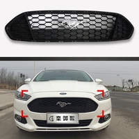 For Ford Mondeo 2013 2014 2015 2016 Car ABS Material Grille Modify Mustang Grilles Shiny Black
