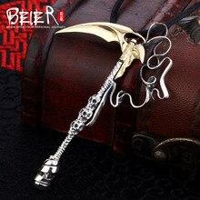 Уникальный дизайн, кулон в виде черепа от Beier, серп, кулон, ожерелье, модные ювелирные изделия A1274