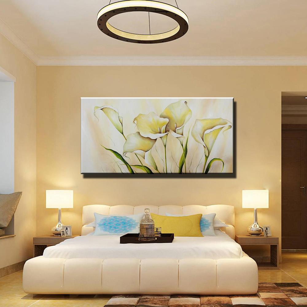 Abstract acrylic calla lily kitchen large canvas wall art handmade ...
