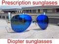 Aviator prescription sunglasses with diopter lens