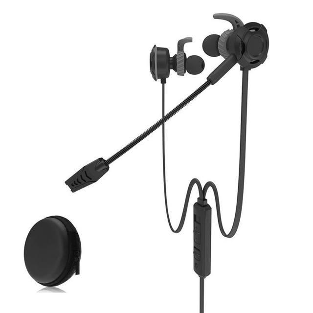 Em fones de Ouvido Fone De Ouvido Estéreo Baixo Fone de ouvido com Cancelamento de Ruído Com Microfone Para PUBG PC Gaming Headset Com Microfone Para PC Telefone notebook