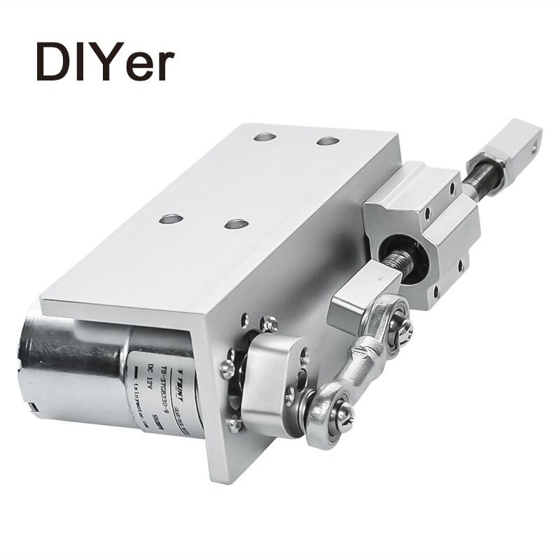 330DIY дизайн линейный привод 12 в 24 в возвратно поступательный цикл мини DC мотор редуктор 12/24 в 20 мм ход линейный привод для секс машины