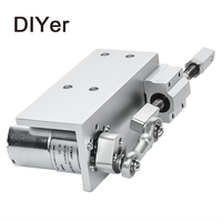 330DIY Design Linear Actuator 12V 24V Reciprocating Cycle Mini DC Gear Motor 12/24V 20mm Stroke Linear Actuator For Sex Machine