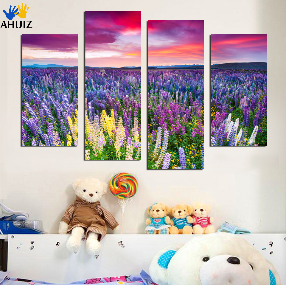 popular cheap modern wall decorbuy cheap cheap modern wall decor  - free shipping  piece large canvas art cheap modern abstract purplepictures oil color painting landscape