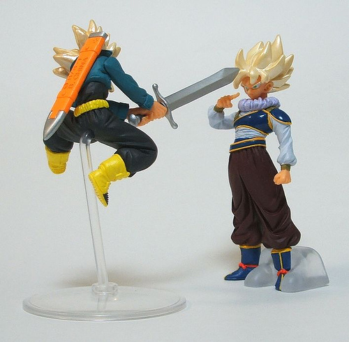 Japanese Anime ( Original BANDAI ) Dragonball Dragon Ball Z/Kai Gashapon Dolls Toys HG Figure 11 Super Saiyan Son Goku & Trunks nd pre sale new genuine funko pop dragonball z super saiyan goku3 75 inch vinyl dolls dragon ball vinyl figure free shipping