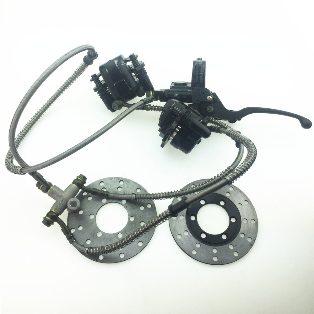 STARPAD For the ATV accessories front brake pump Hand brake one for two hydraulic disc brake pump Dual disc brake