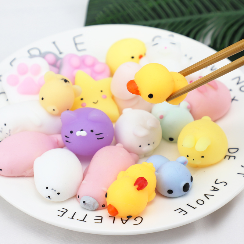 Mini Cute Animal Antistress Ball Color Change Squishy Squeeze Mochi Rising Abreact Soft Sticky Stress Relief birthday gifts toys