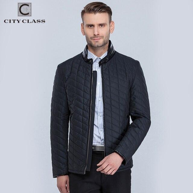 Сity Class 2016 весна и осень мужские стеганные куртки свободного покроя куртка мода PU украшение стойка воротник короткие куртки бесплатная доставка 96911