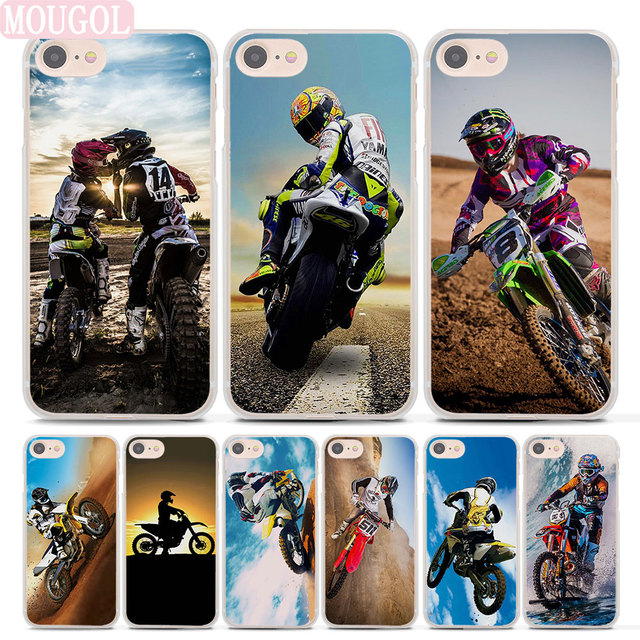 big sale 91e4a 14e98 US $2.99 |MOUGOL Hot Sale Motocross cross dirt bikes Style Thin clear phone  shell case for Apple iPhone 7 7Plus 8 8Plus 6 6sPlus X SE 5 5s-in ...