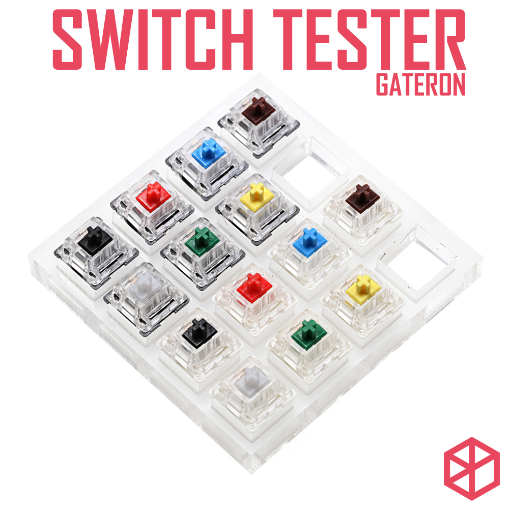 Aluminum Or Acrylic Switch Tester Gateron Switches Blue Black Blue Red Green Yellow White RGB SMD For Mechanical Keyboard