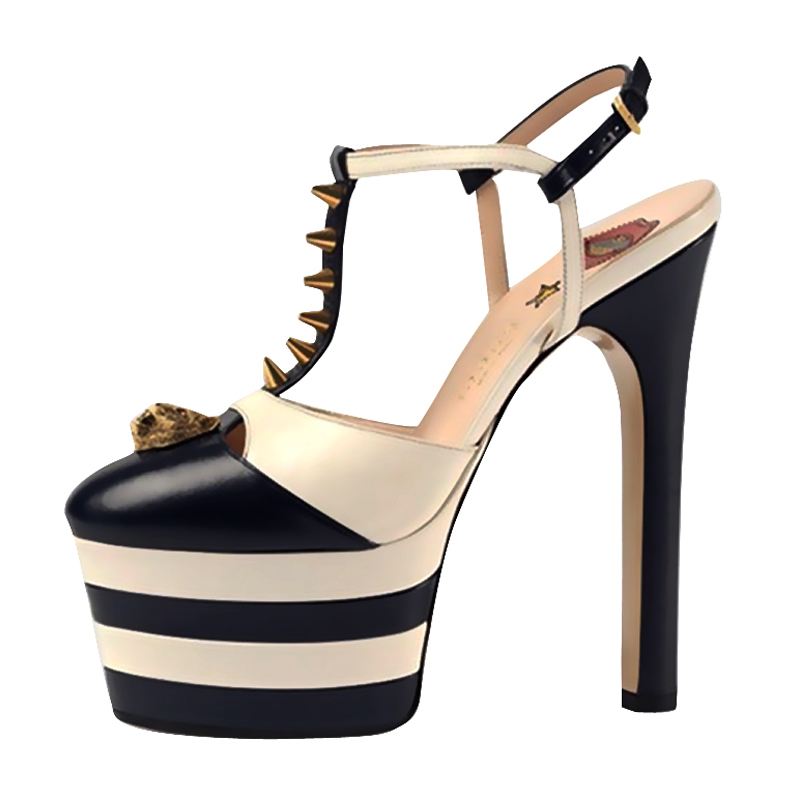 ENMAYER Gothic Woman High Heels Sandals Summer High Fashion Shoes - Zapatos de mujer - foto 6