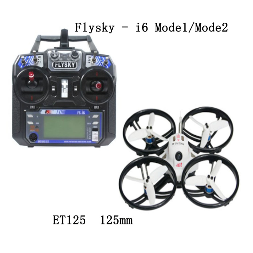 JMT ET125/ET115 <font><b>Mini</b></font> Racer <font><b>Drone</b></font> <font><b>Brushless</b></font> <font><b>FPV</b></font> Quadcopter with FS-i6 Transmitter PIKO BLX + 4in1 10A BLheliS Flight Controller image