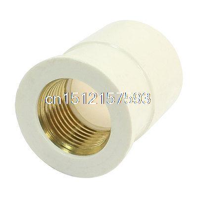 цена на 25mm Slip x 1/2PT Brass Female Thread PVC Pipe Straight Connect Adapter