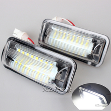 2Pcs LED License Number Plate Light Lamp For Subaru Forester Impreza Legacy BRZ WRX/WRX STI Wagon XV Crosstrek TOYOTA FT86 GT86