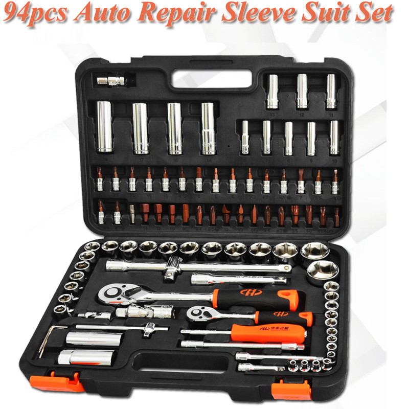 Multifunctional Hardware Toolbox Hand Car Repair Combination Tool Set 94pcs High Quality Manual Hardware Kits Box For HouseholdMultifunctional Hardware Toolbox Hand Car Repair Combination Tool Set 94pcs High Quality Manual Hardware Kits Box For Household