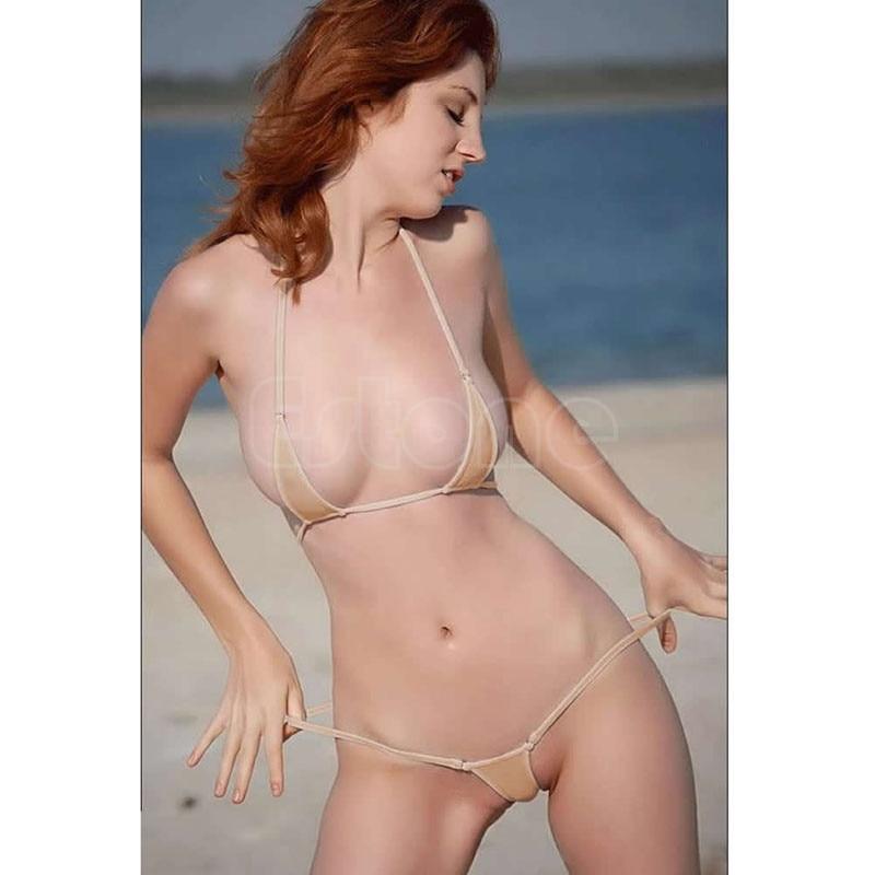 2020 NEW Sexy Women Micro Thong Underwear G-String Bra micro bikini Brazilian Bikini Set Swimwear Sleepwear 2