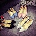 Mulheres Dedo apontado Sapatos Único Planas Senhoras Chaussure sapatos Preto Sapatos Casuais Alpargatas Loafers Ballet zapatos mujer 017