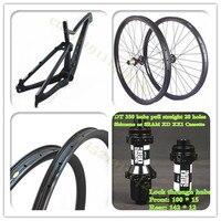 27 5er Full Suspension 29er Mountain Bike Frames T800 Carbon Fiber MTB Full Suspension Bicycle Frameset