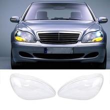 1 пара автомобильных фар стеклянная крышка передняя фара Объектив оболочка прозрачная крышка автомобильные фары абажур для Benz W220 1998-2005