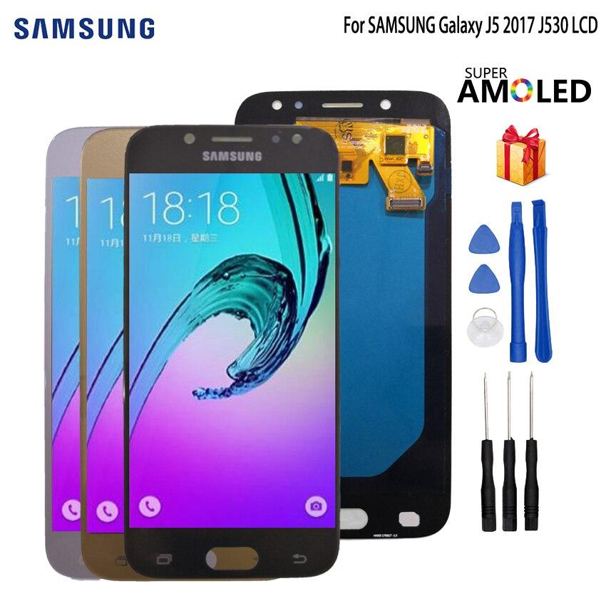 Testé AMOLED pour SAMSUNG Galaxy J5 2017 J530 J530F LCD écran tactile numériseur assemblée pour SAMSUNG Galaxy J530 affichage