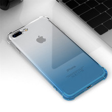 Oppselve Luxury Case For iPhone X 10 Capinhas Gradient Color Ultra Thin Clear Soft TPU Silicone Cover iPhonX Coque Capa