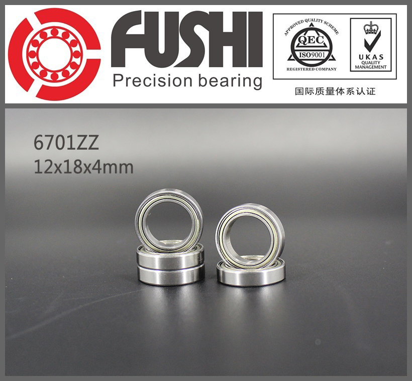 6701ZZ Bearing ABEC-1 (10PCS) 12x18x4 mm Thin Section 6701 ZZ Ball Bearings 61701ZZ 6701Z 6903zz bearing abec 1 10pcs 17x30x7 mm thin section 6903 zz ball bearings 6903z 61903 z